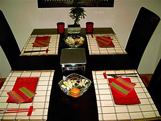 Jeli R Asiatische Tischdeko